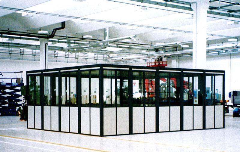 Uffici e pareti modulari in acciaio
